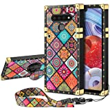JAKPAK Case for LG Stylo 6 Case with Kickstand for Girls Women Soft TPU Luxury Stylo 6 Case with Strap Shockproof Protective