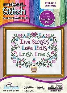 The Janlynn Corporation Live, Laugh, Love Cross-Stitch Kit