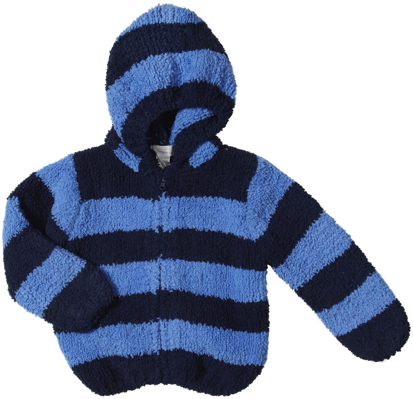 Angel Dear Baby Boys' Chenille Zip Hoodie (Baby) - Navy/Stripe - 18 Months by Angel Dear