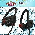 CrossBeatsTM Wave Wireless Bluetooth Headset Headphones -IPX7 Waterproof V4.1, 8 Hrs Playtime ,Black