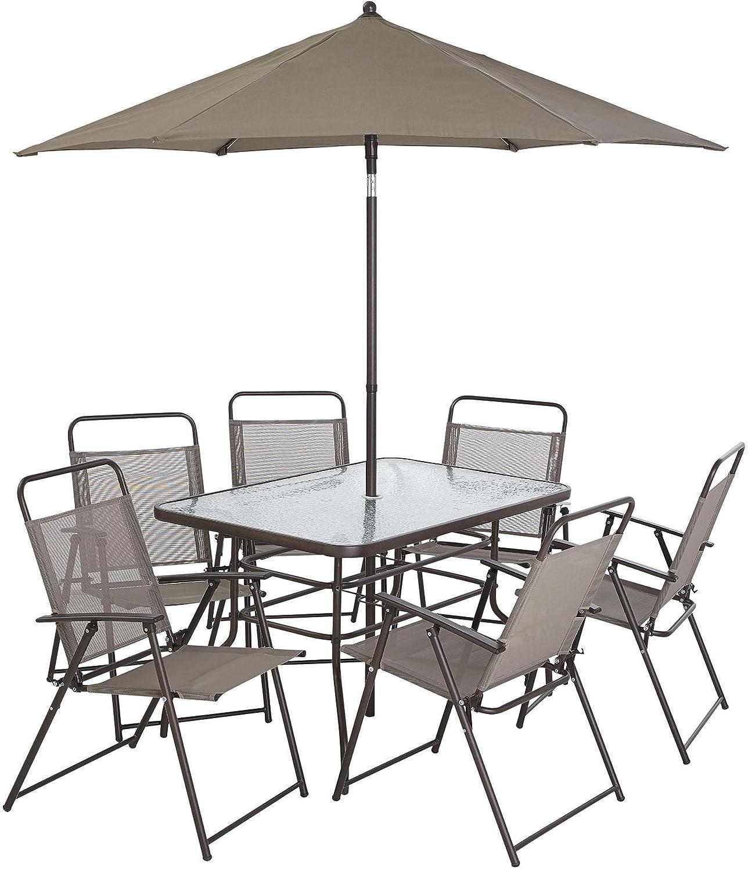 Nueva Tesco Hawaii 8 piezas Juego de muebles de jardín patio comedor ...
