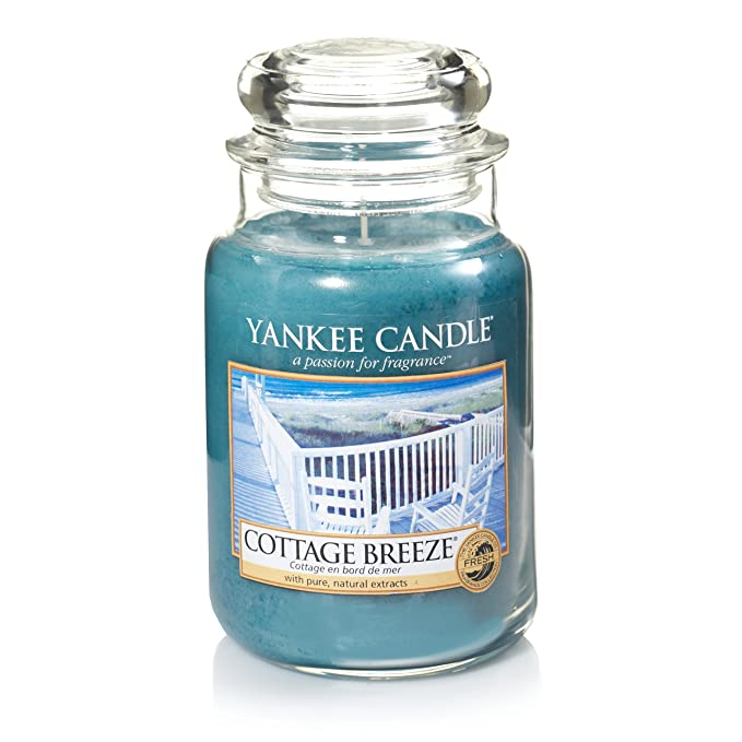 56 opinioni per Yankee Candle Cottage Breeze, candela in contenitore di vetro grande, colore