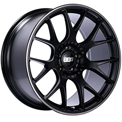 Amazon.com: BBS CH-R Black Wheel with Painted Finish and Polished Stainless Steel Rim (20 x 10.5 inches /5 x 112 mm, 25 mm Offset): Automotive