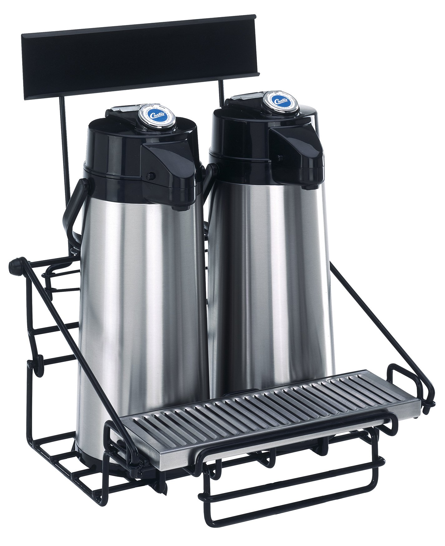 Wilbur Curtis 2 Position Wire Airpot Rack - Compact Design with Integral Drip Tray - WR2B0000 (Each)