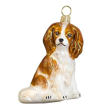 Blenheim Cavalier King Charles Spaniel Dog Polish Glass Christmas Ornament - Amazon.com: Blenheim Cavalier King Charles Spaniel Dog Polish Glass