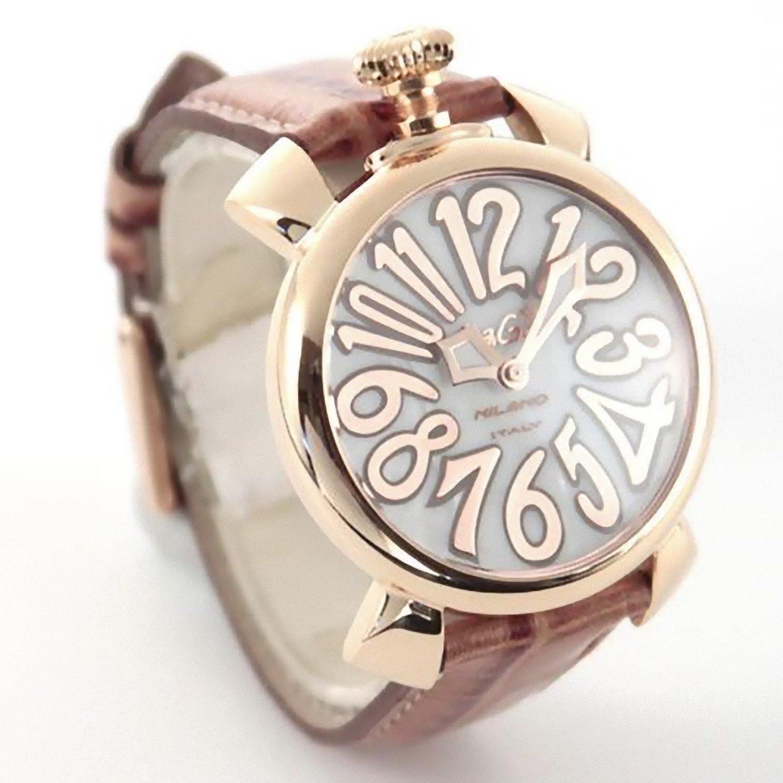 GAGA MILANO 5021.2 MANUALE 40MM ガガミラノ レディース 腕時計 18K PVD レザーベルト【並行輸入品】  B008YOGTUY