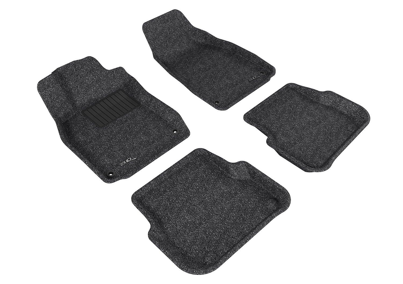 L1AD00612201 Gray 3D MAXpider Front Row Custom Fit All-Weather Floor Mat for Select Audi A6//S6//RS6 Sedan Models Classic Carpet