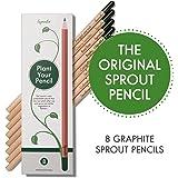 Sprout matite da piantare|set di 8 matite di legno naturale biologico |matite grafite senza piombo
