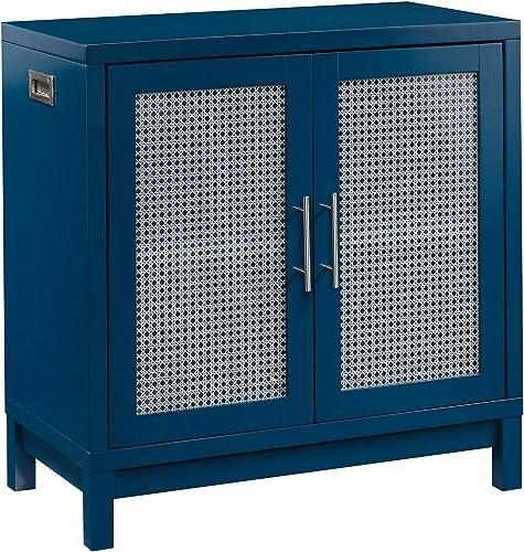 Sauder 422437 Vista Key Accent Storage Cabinet, Navy Blue Finish
