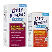 Little Remedies Saline Spray/Drops for Stuffy Noses with Decongestant Drops