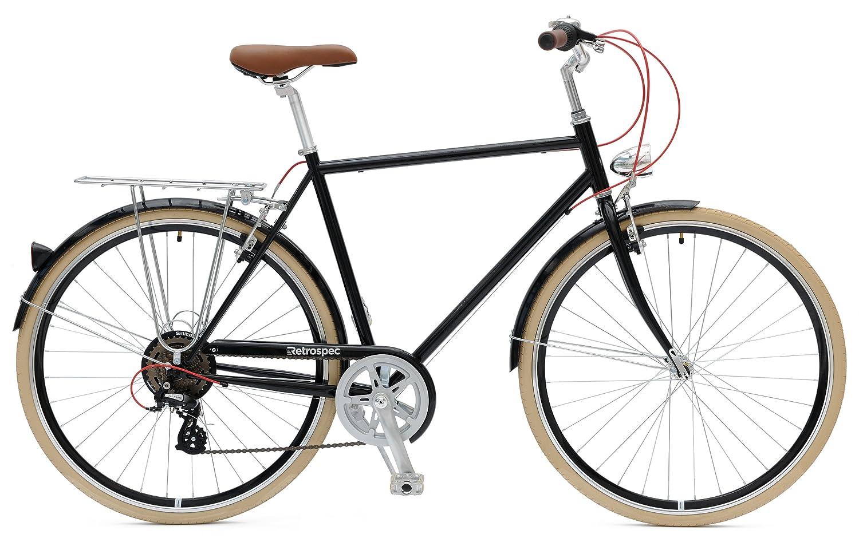amazoncom retrospec bicycles diamond frame sid7 hybrid urban commuter road bicycle bike sports u0026 outdoors