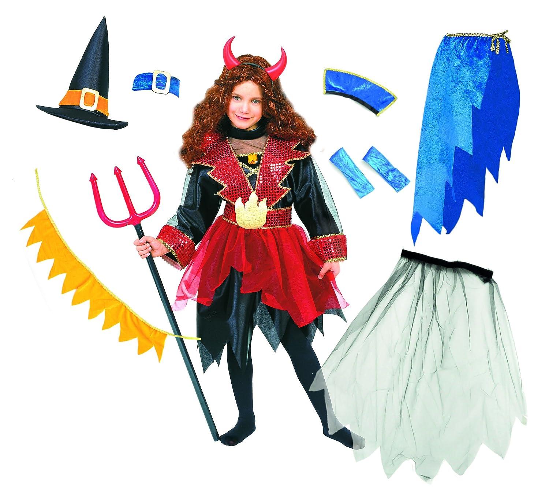 Carnaval - Disfraz de diablesa para niña, talla 6-8 años: Amazon ...