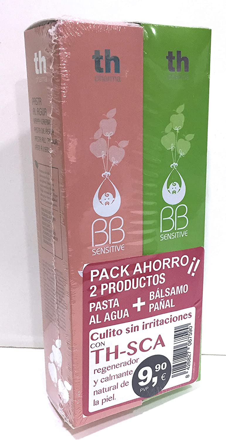 Th Pharma BB Sensitive Pack Ahorro Bálsamo Pañal + Pasta Agua 100 ml TH-SCA