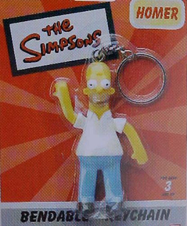 Monogram Los Simpson Homer Llavero del Llavero Flexible ...
