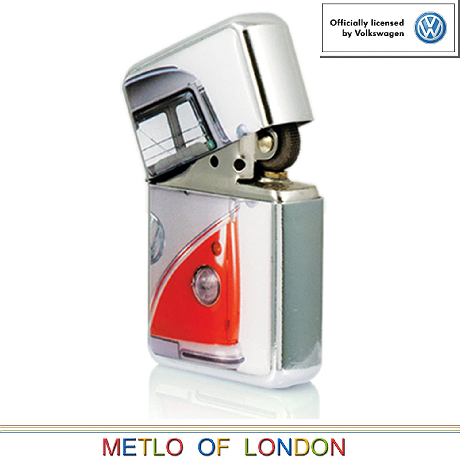 Red Campervan Star Lighter In Gift Tin