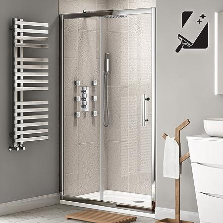 Ibathuk 1000 Mm Premium Sliding 8mm Thick Easy Clean Glass Shower