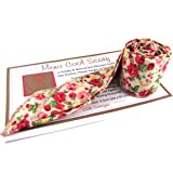 MENO COOL SCARF COOLING GEL NECK WRAP RED & CREAM FLORAL - REUSABLE, NATURAL & NON TOXIC - MENOPAUSE HOT FLUSHES