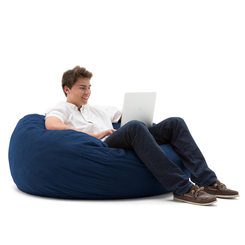 big joe large fuf in comfort suede blue sky - Cheap Bean Bag Chairs