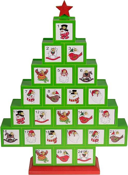 red Fill your own christmas scene advent calendar 3d advent calendar