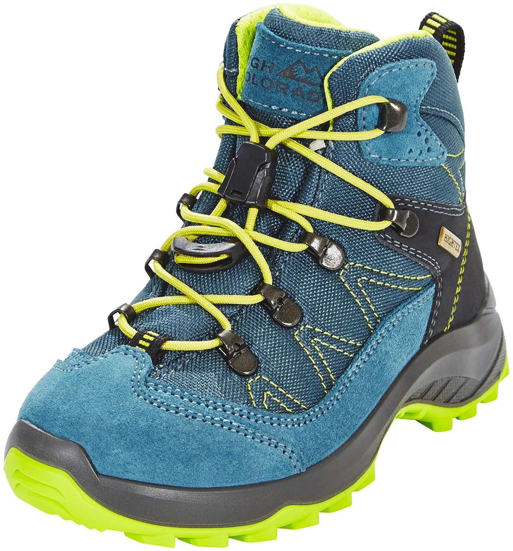 - High Couleurado Vilan Mid High Tex Chaussures de randonnée Fille, bleu vert 2018 28 EU