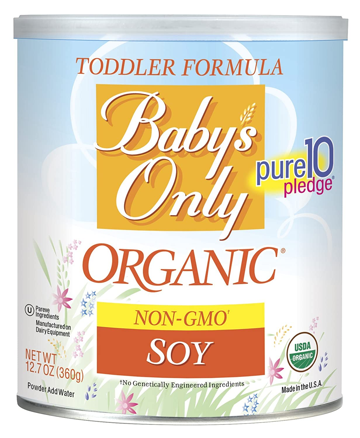 Babys Only Soy Organic Toddler Formula, 12.7-Ounce Canister (Package May Vary) Baby' s Only 101873