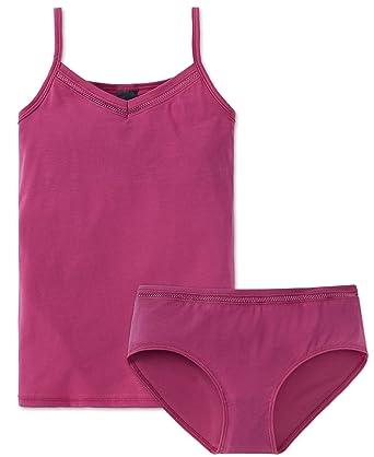 22698265b6 Schiesser Mädchen Teens - Unterwäsche Unterhemd (Top mit Innen-Bustier) + Panty  aus