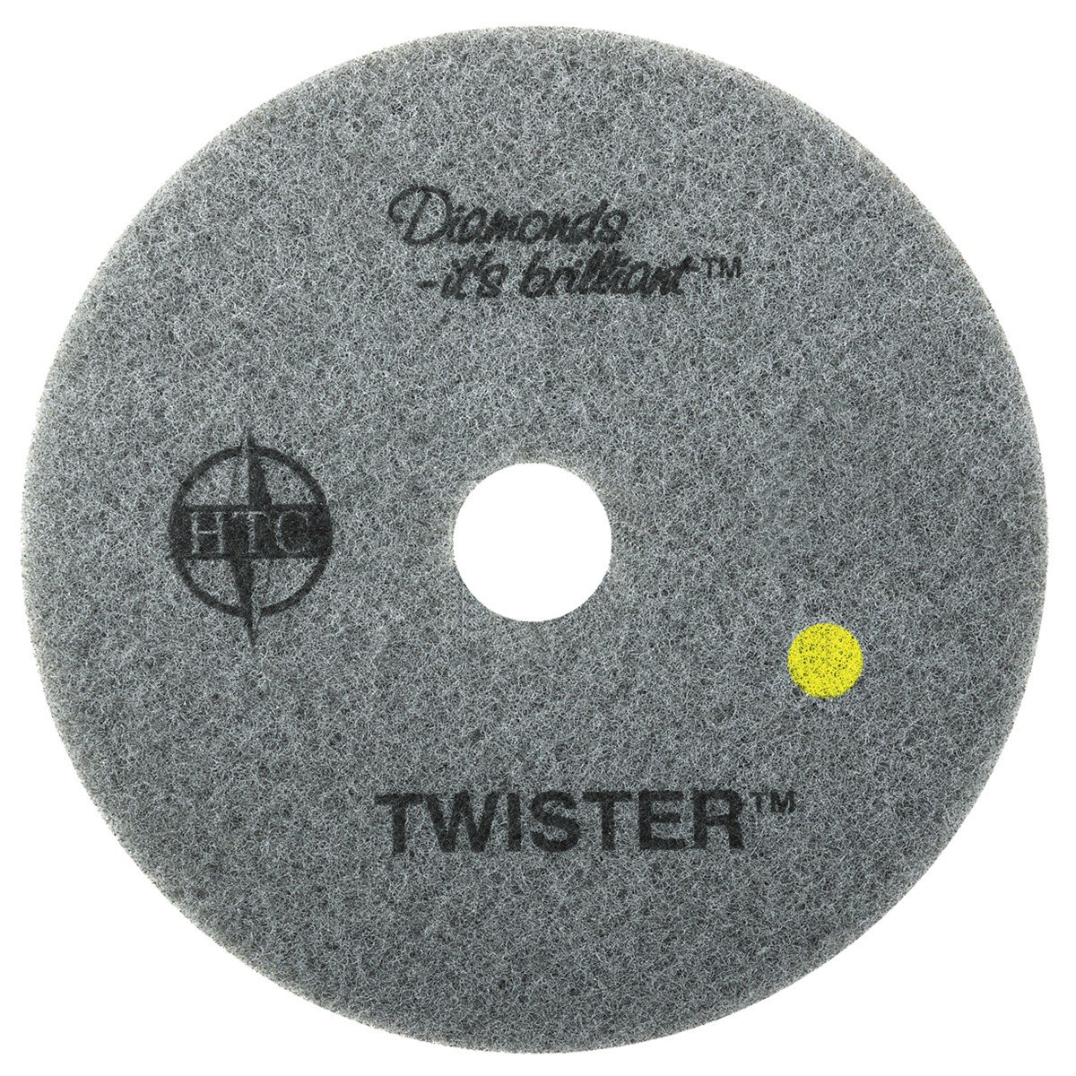 Twister Diamond Cleaning System 24'' Yellow Floor Pad - 1500 Grit - 2 per case