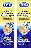 Scholl - Creme Nourrissante - Pieds et Ongles - 75 ml - lot de 2