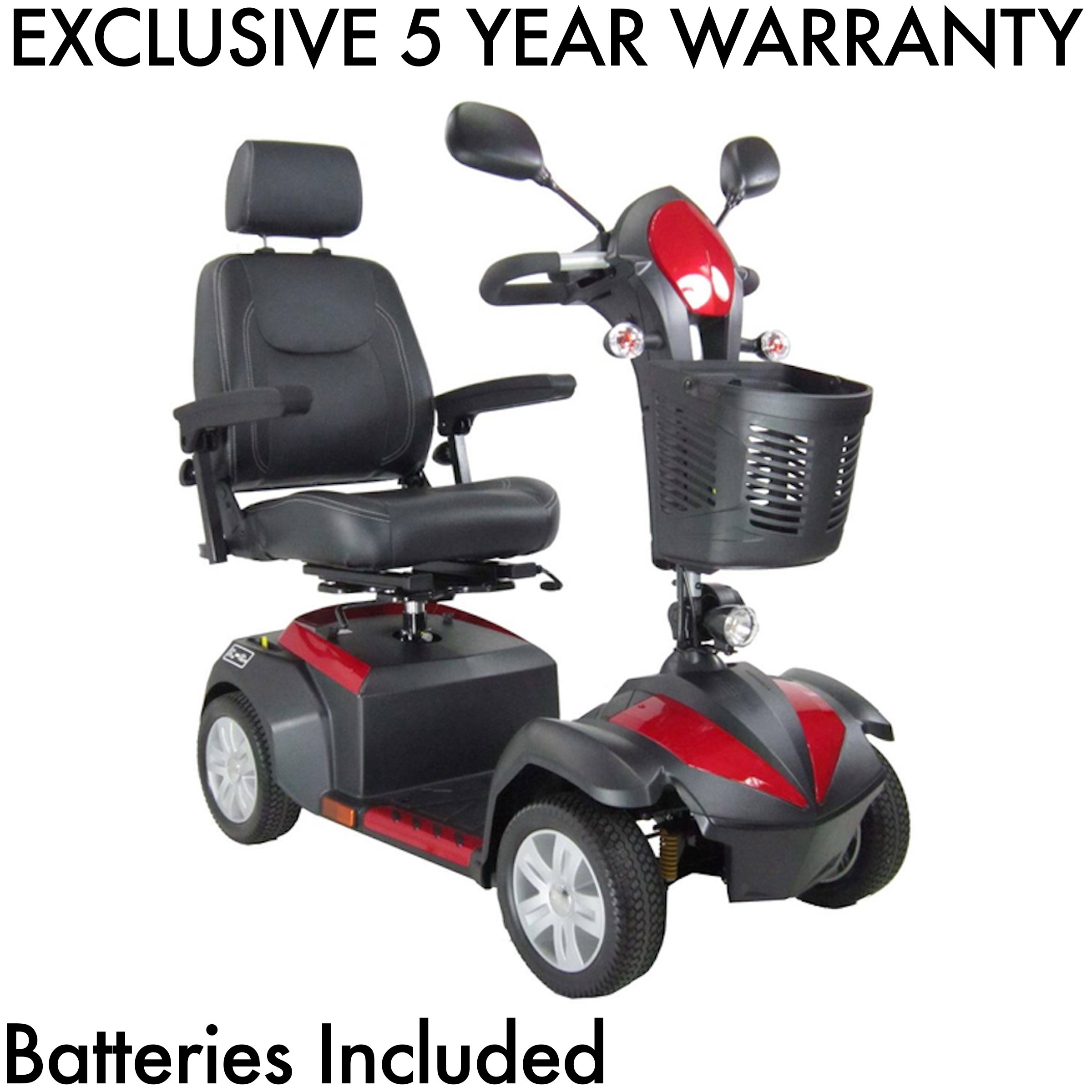 Drive Medical Ventura 4 Wheel DLX Scooter Includes 5 Year Protection Plan (20'' Captain's Seat)