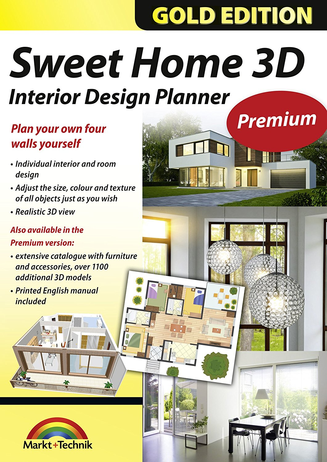 Interior Design Planner with an additional 1100 3D models and a printed manual, ideal for architects and planners [Download] by AARDev