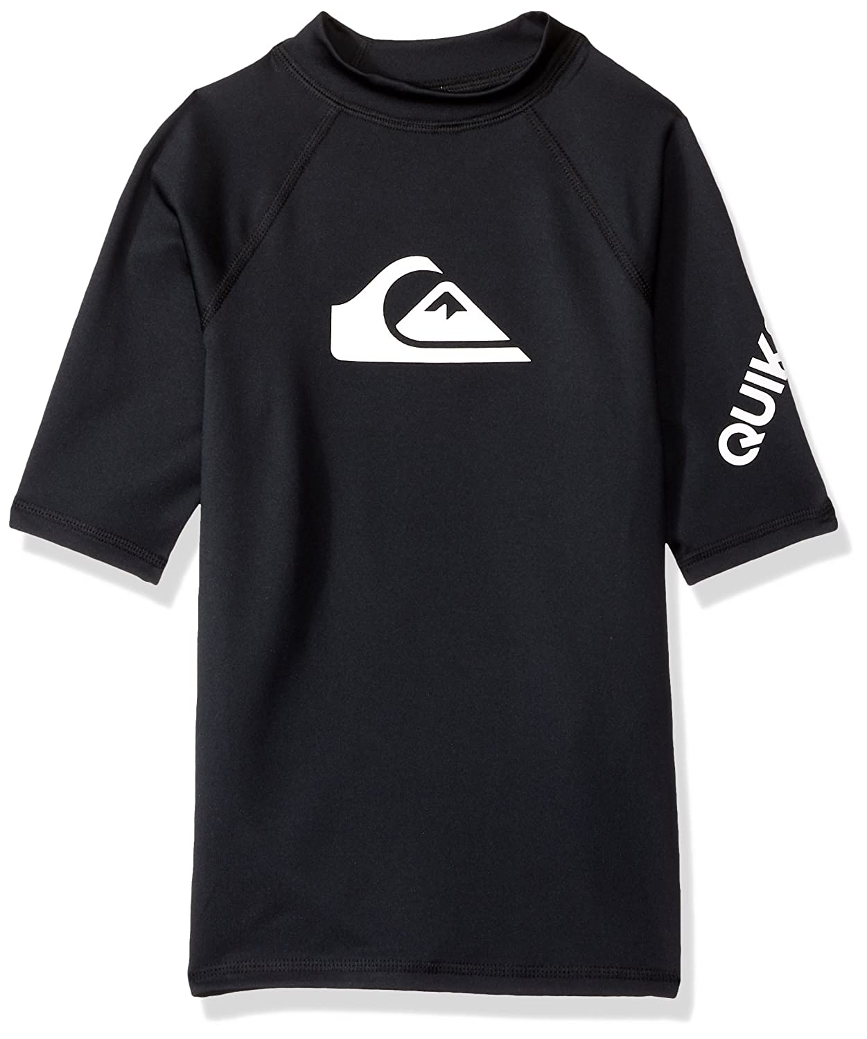Quiksilver Boys All Time Short Sleeve Youth Black Surfing Rashguard Size L-14 B0794XTGGZ