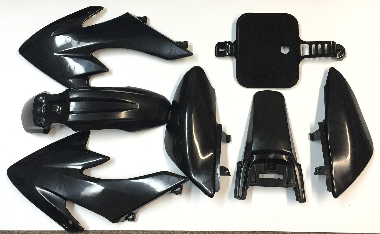 HTT Group Motorctcly Black Plastic Fender Kit Body Work Fairing Kit For Honda CRF XR XR50 CRF50 Clone 125CC Pit Dirt Bike by TTMT