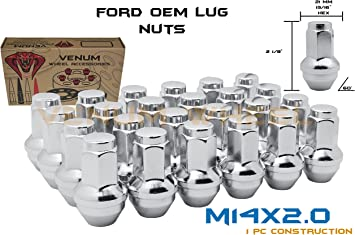 20pcs 2.32 Chrome M14 X 2 Wheel Lug Nuts fit 2007 Ford Expedition May Fit OEM Rims Buyer Needs to Review The spec
