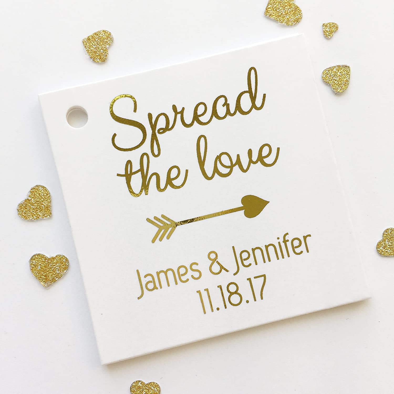 Amazon.com: Spread The Love Color Foil Tags, Jam Tag, Jam Wedding ...