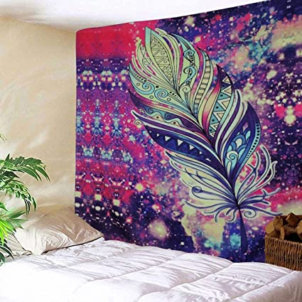 Home Textile Tapestry Small Fresh Series Flower Bird Print Blanket Tapestry Wall Hanging Decorative Beach Knitted Couch Blanket Home Decor Tapestry