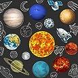 13 Piezas de Suministros para Fiestas del Sistema Solar, 2 Lados Recortes Impresos del Sistema Solar Recortes Planetarios para Decoraciones del Espacio Exterior