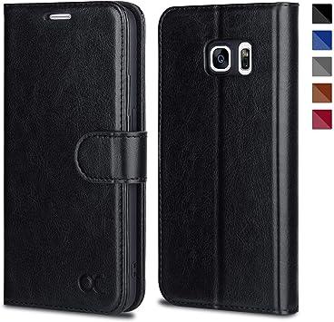 OCASE Coque Samsung Galaxy S7, Antichoc TPU Housse Samsung S7 Cuir Premium Flip Case Portefeuille Etui [Béquille] [Fentes pour Cartes] [Fermoir ...