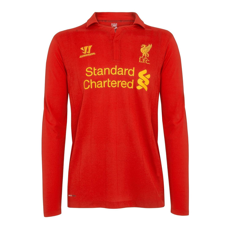 Original Liverpool FC Home Kinder-Trikot Langarm Warrior NEU, Rot (High Risk ROT), L