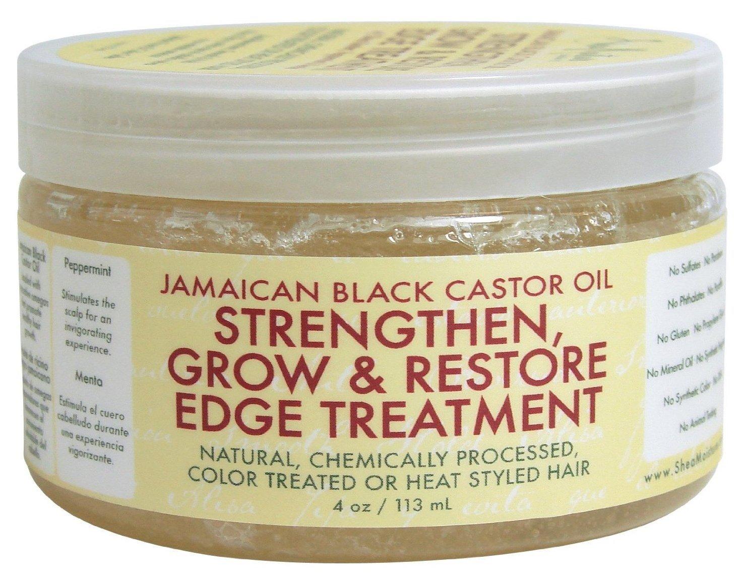 Shea Moisture Grow And Restore Edge Treatment 4oz Jamaican Black Castor Oil (2 Pack)