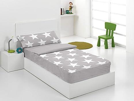 Saco nordico con relleno Star Gris para cama de 90 cm