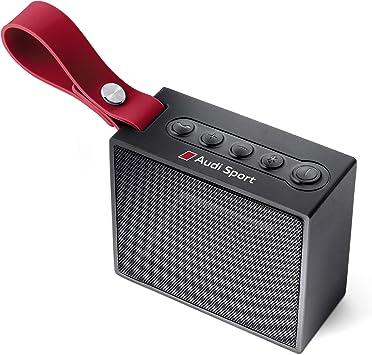 Audi 3291700700 Bluetooth Lautsprecher Schwarz Rot Auto