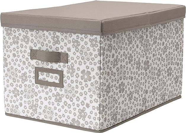 MBI - Caja con Tapa (35 x 50 x 30 cm), Color Beige: Amazon.es: Hogar