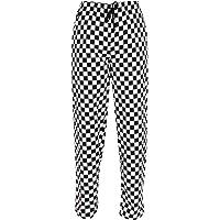 Pantalones para chef, elásticos, estampado de tablero