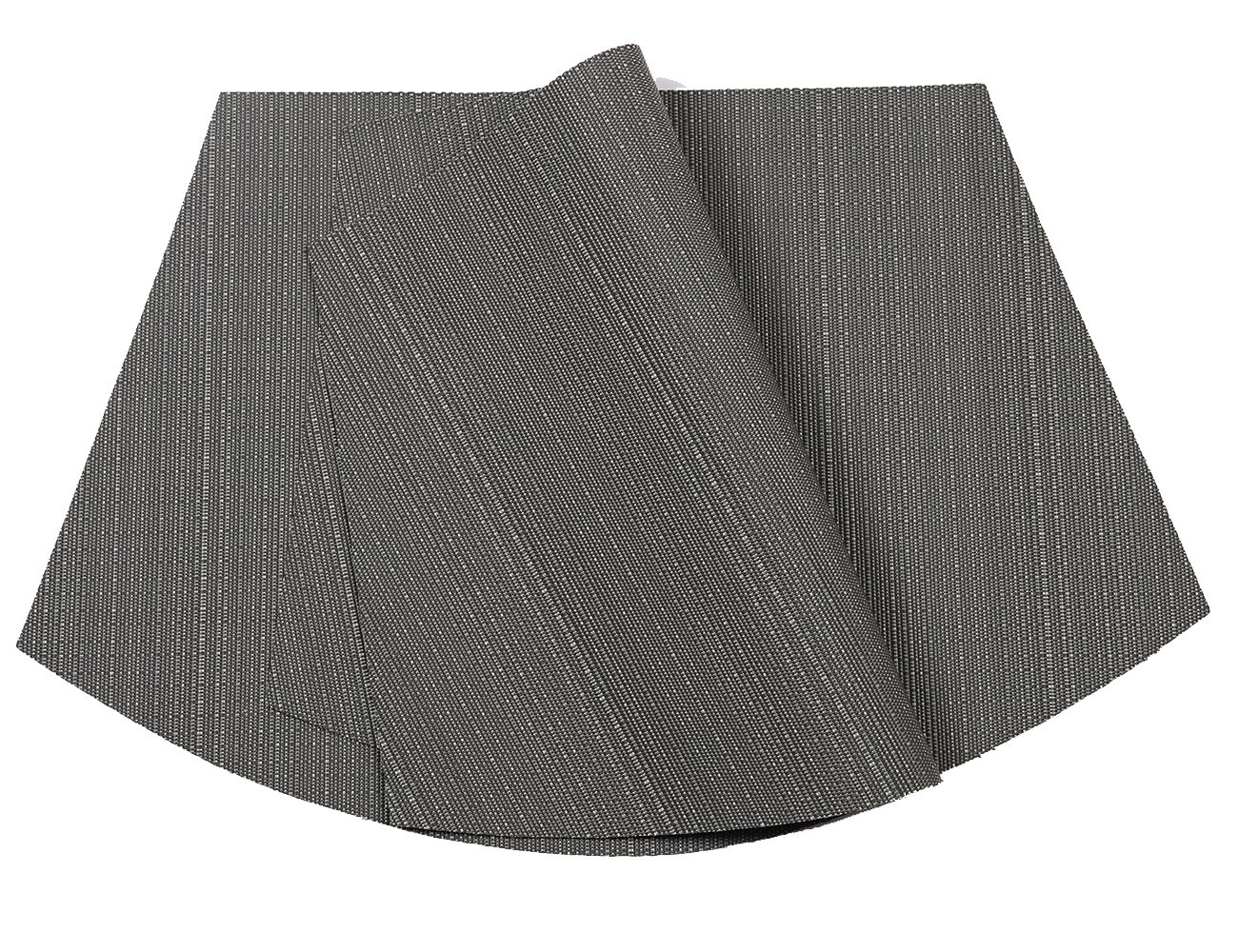 PAUWER Wedge Placemats for Round Tables Heat Insulation Stain-resistant Washable Vinyl Round Table Placemats Set of 6 (Grey) by PAUWER (Image #2)