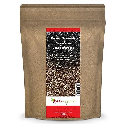 Semillas de Chia orgánica - 1kg - Aktiv Organic: Amazon.es ...