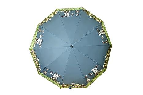 Paraguas Plegable AVK. Para mujer y hombre. Secado Rápido. Ultra Comodidad Mango Proking