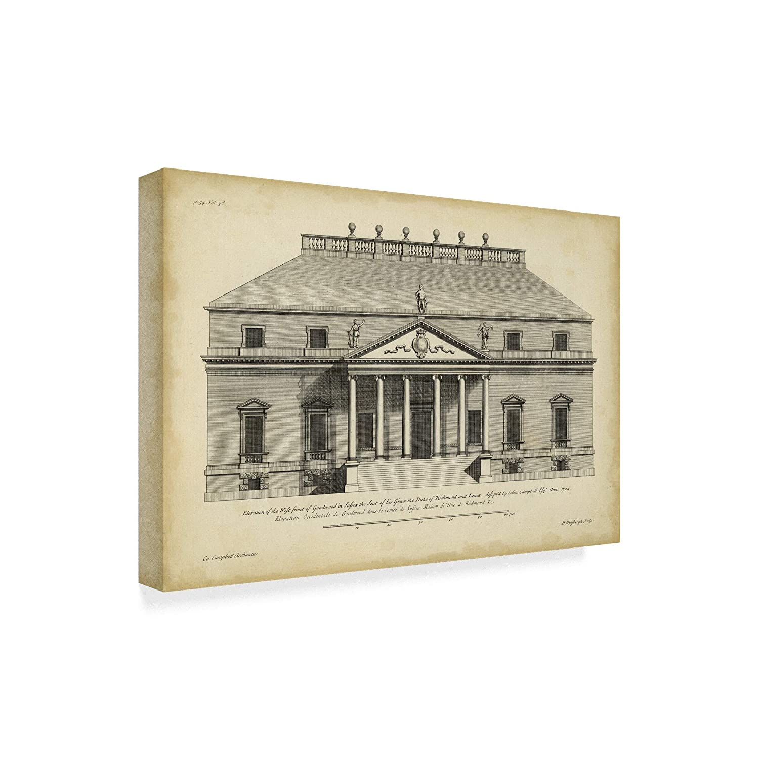 Amazon.com: Trademark Fine Art Vintage Facade II by H ...