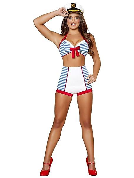 Amazon.com: Adultos Playful Pinup marinero sexy disfraz ...