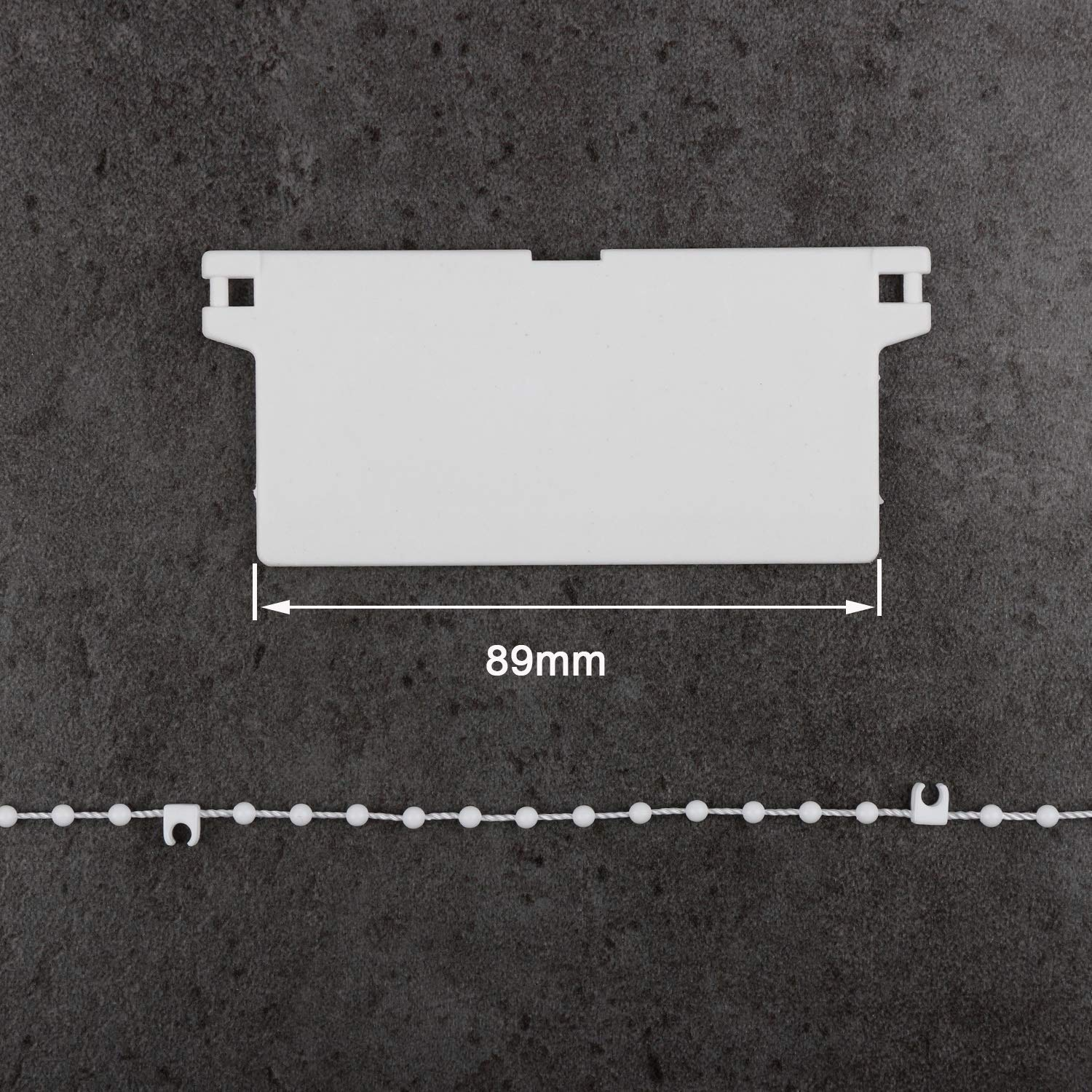 5M, 0 Clips EveryHome Vertical Blind Bottom Chain for 3.5 Inch// 89 mm Slats