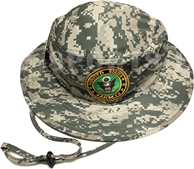 U.S MILITARY ARMY ISSUE CAMO BOONIE HAT DESERT CAMOUFLAGE BUCKET STYLE HAT 6 3//4